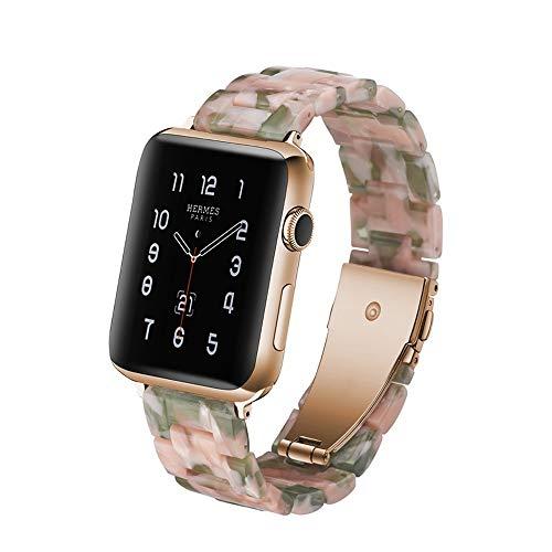 JIADUOBAO Correa deportiva compatible con Apple Watch de 38 mm, 40 mm, 42 mm, 44 mm, correa de repuesto de resina, compatible con Apple Watch Series 5/4/3/2/1 para mujer (color: C, tamaño: 40 mm)