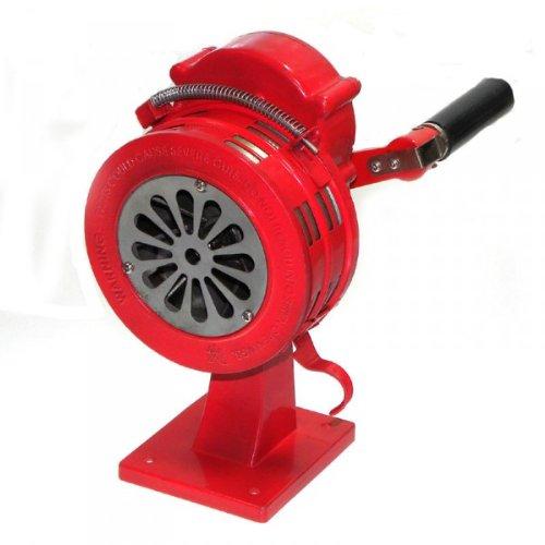 Sirene manuell Handsirene mit Schraubfuß - 110 dB - ALU - Alarm THW Feuerwehr Militär ROT