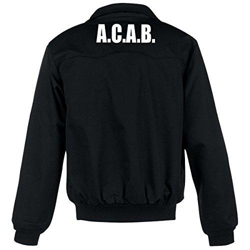 Nix Gut ACAB Harrington Jacke, schwarz, Grösse S