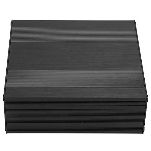Schwarze Aluminiumbox, Wacent Aluminiumgehäuse-Box Schwarze Aluminium-PCB-Box Geteilte DIY-Projektgehäusebox