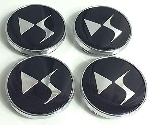 60 mm 60 mm Aluminium-Radkappen-Set, DS-Logo, schwarz verchromte Logo-Abzeichenabdeckung