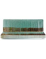 THE CHEF COLLECTION – Set de 4 uds. Plato Rectangular Colección Art, Porcelana Colores, Plato para Aperitivos, Sushi, entrantes, Tapas. 30,7x10,0x1,5 cm