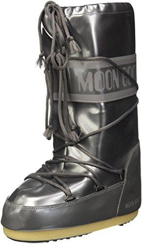 Moon Boot Unisex-Erwachsene Vinil Met Schneestiefel, Silber (Argento 004), 39 EU