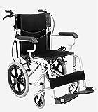 YIQIFEI Trolley de Aluminio Plegable Ligero para Silla de Ruedas para Ancianos discapacitados, Negro (Silla de Ruedas)