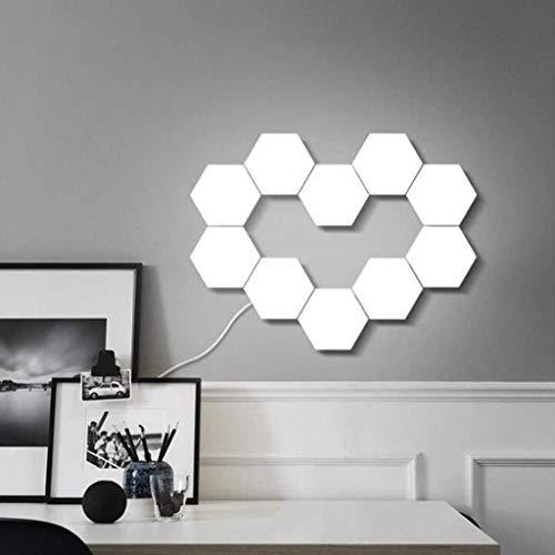GYH Empalme de Geometría de Bricolaje Luces Cuánticas Hexagonales, Paneles de Pared de Luz LED Modulares Inteligentes Sensibles Al Tacto, para Cocina, Oficina, Dormitorio (Size : 10piece)