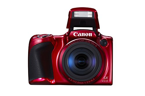 Canon PowerShot SX410 is Digital Kamera (7,6cm (3 Zoll) Display, 20 MP, 40-Fach Opt. Zoom, HDMI Mini, USB 2.0) rot