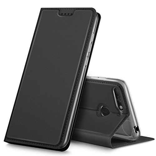 GeeMai DOOGEE X6S Hülle, Premium DOOGEE X6S Leder Hülle Flip Case Tasche Cover Hüllen mit Magnetverschluss [Standfunktion] Schutzhülle handyhüllen für DOOGEE X6S Smartphone, Schwarz