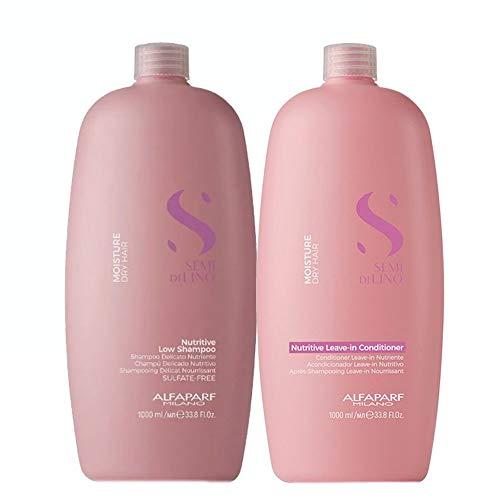 Alfaparf Milano Semi Di LINO Kit Moisture Dry Hair Nutritive Shampoo and Conditioner 2x1L/2x33.8fl.oz