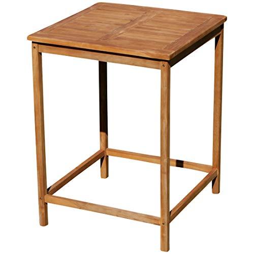 ASS echt Teak Bartisch Bistrotisch Stehtisch 80x80cm Holztisch Gartentisch Garten Tisch Holz BIMA-80x80
