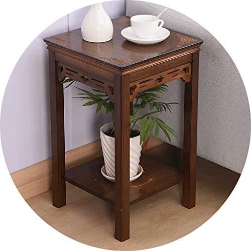 Étagères d'angle Support De Fleur Ménage Intérieur Bonsai Rack Rack Au Sol Table De Fleur Salon Durable Flower Stand Clear Texture Cadeau (Color : Brown, Size : 33 * 53cm)