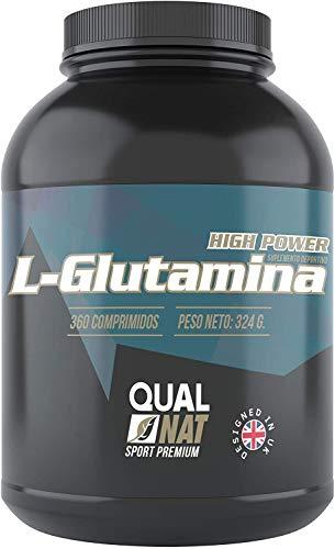 L-Glutamina |Fuerza y Potencia|Suplemento Deportivo | 360 comprimidos-Qualnat