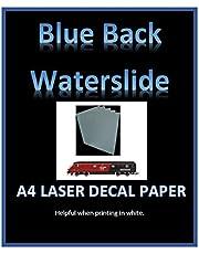 Niebieski tył woda zjeżdżalnia naklejka papier - drukarka laserowa A4 - pięć rozmiarów opakowań (1 A4)