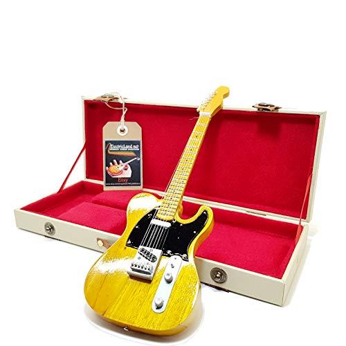 mini guitar Bruce Springsteen the Boss telecaster model + hard case box miniature in scala 1:4 chitarra in miniatura con custodia da collezione music gadget rock