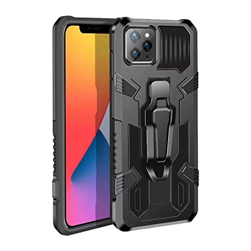 JHSM CJL Military Grade Drop Protection Sturdy Phone Case and Tempered Film Set for iPhone 12 Pro Max,The Best Choice to Protect Mobile Phones,with Magnetic and Bracket,Suitable for All Occasions.