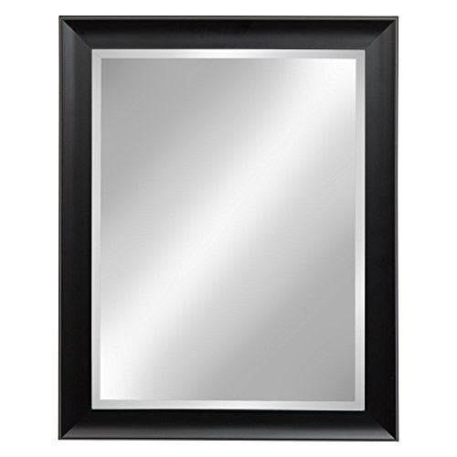 Kate and Laurel Scoop Black 22x28 Framed Beveled Wall -