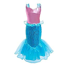 Colour #6 Sequins Mermaid Dress Up Romper