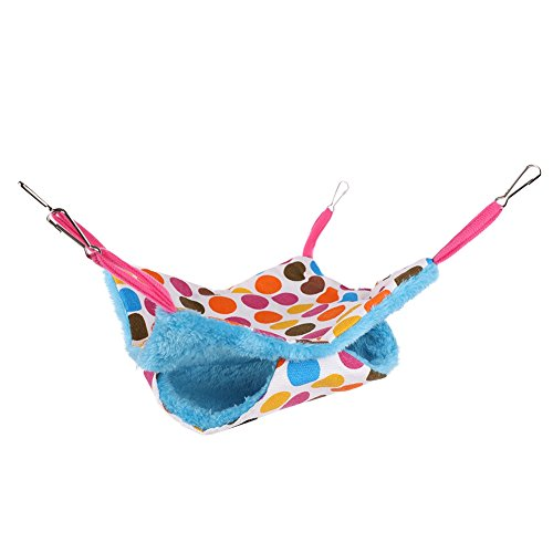 Balai Small Animal Hammock Bed Mat Hamster Bird Cage Canvas Fleece Double Layer Printed Hanging Beds Pet Supplies