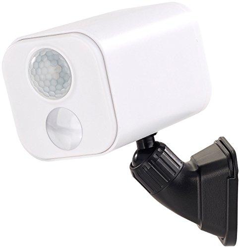 Luminea Lampen Batterie: LED-Wandspot für innen & außen, Bewegungssensor, 7 Monate Laufzeit (LED Leuchte mit Bewegungsmelder)