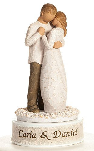 Personalized Embroidery Willow Tree 'Promise' Wedding Cake Topper By Wedding Collectibles