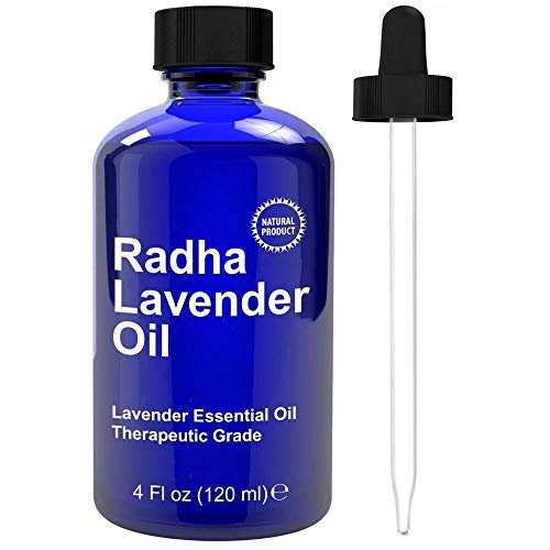 Radha Beauty Lavender Essential Oil 4 oz. - Natural & Therapeutic...