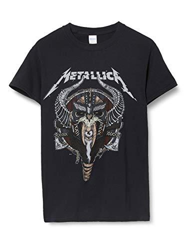 Metallica Vikings T Shirt for Mne, Black, S to XXL