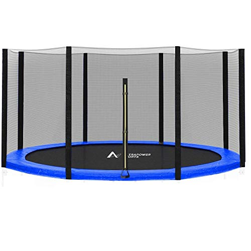ULTRAPOWER SPORTS Filet de sécurité Rechange pour Trampoline 244cm 305cm 366cm 397cm 427cm - Noir 366cm 8 Barres