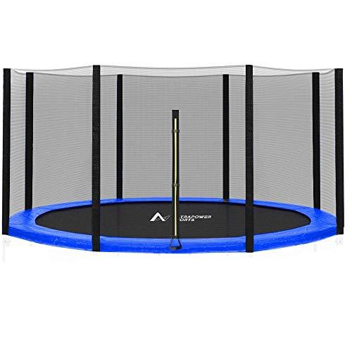 ULTRAPOWER SPORTS Sicherheitsnetz Ersatznetz für Trampolin Ø 305 cm, Gartentrampolin Ersatznetz für 8 Stangen, Netz außenliegend, Ersatzteil reißfest, UV-beständig - Schwarz