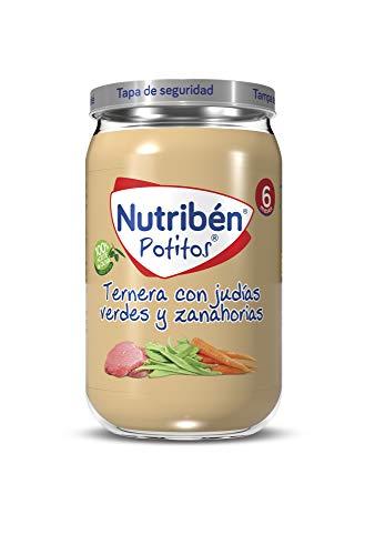 Nutribén Potitos de Ternera con Judías Verdes y Zanahoria, Desde Los 6 Meses, 235g