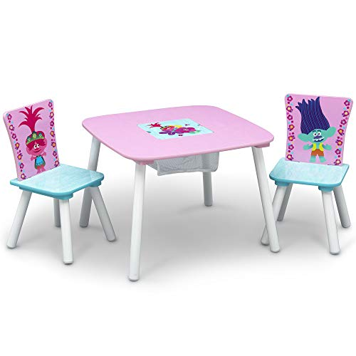 Delta Children Kids Table and Chair Set With Storage (2 Chairs Included) - Ideal...