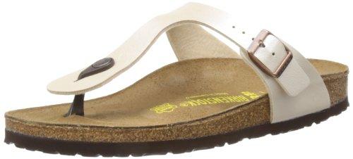 Birkenstock Gizeh 912 943873, Damen Sandalen, Weiß (Pearl White), 39 EU (5.5 UK )