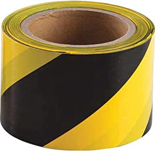 Caution Barricade Tape 3in X 300ft • Caution Tape Bright Yellow with a bold Black Print for High Visibility • 3 in. wide for Maximum Readability • Tear Resistant Design (Barricade Tape Black & Yellow)