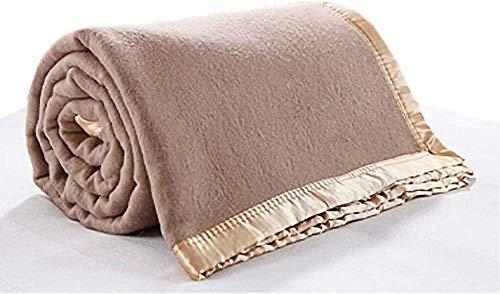 Manta de lana 100% cálida estilo militar para cama, sofá, camping, doble cara, manta de forro polar de lujo como una capa extra cálida en tu cama, 150 x 200 cm, Baifantastic