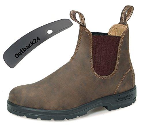 Blundstone Style 585 Comfort Boots Unisex Stiefelette Nubukleder - Rustic Brown + Schuhlöffel (UK...