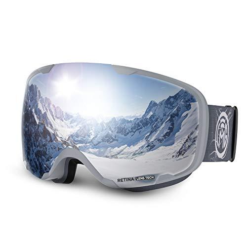 LEMEGO Ski Goggles Dual Spherical Lens Snow Goggles Anti-fog Snowboard...