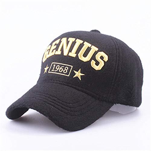 Casquettes de Baseball pour Hommes et Femmes, Chapeaux de Cachemire, Bonnets épais et Chauds à Capuche @Yellow_Word