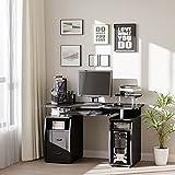 Immagine 1 homcom scrivania moderna porta pc