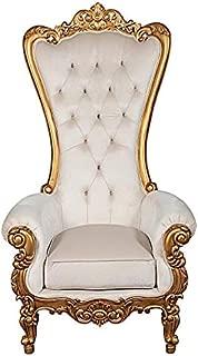 Design Toscano Contessa Stylish Baroque Throne Chair, 70.5 Inch, gold