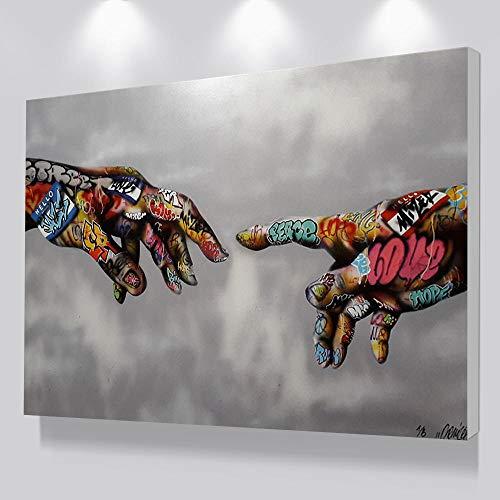 Anytumep Graffiti Pop Art Poster drucken Malerei Street Art Urban Art auf Leinwand Hand Wandbilder für Wohnzimmer Home Decor 80x120cm