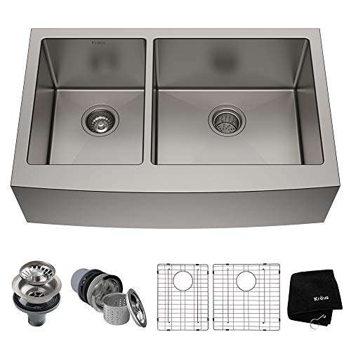 Kraus KHF204-33 Standart PRO Kitchen Stainless Steel Sink 16 Guage,...