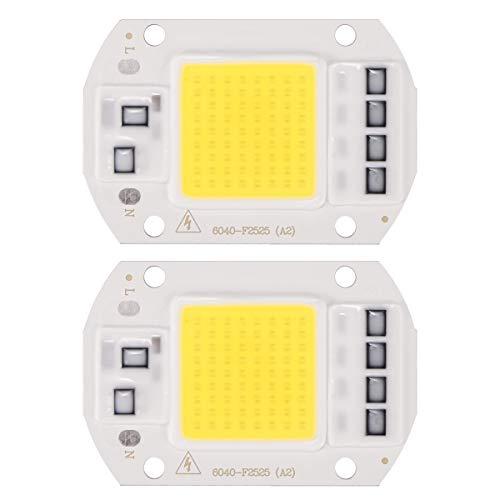 LED COB Chip, DDSKY 2-Pack High Power LED Chip Lamp 100W 110V Spotlights Floodlight Smart IC Driver Lamp for Home Office, Cool White