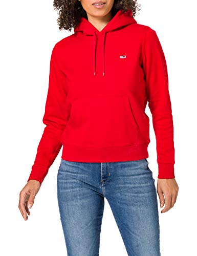 Tommy Jeans Damen TJW Regular Fleece Hoodie Pullover, Deep Crimson, L