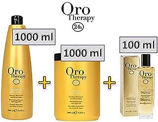 FANOLA ORO THERAPY - Shampoo (1000 ml) + Maschera (1000 ml) + Fluido Illuminante (100 ml)
