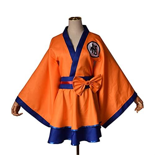 YYCHER Kimono japons para adulto, disfraz de Akatsuki con estampado en la nube Uchiha Sasuke Hyuga Hinata para mujeres y nias (color: WUKONG, tamao: XL)