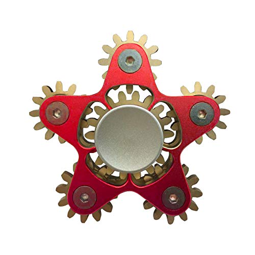 jieGorge Juguete Educativo, Hardware Five Gear Spinning Fingertip Spinning Top Toy Descompresin, Juguetes y Pasatiempos (Rojo)