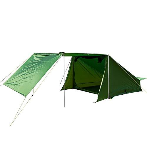 OneTigris スーパーシェルター 2~4人用 テント ポール付き ベイカースタイル TIGERSDEN (グリーン)