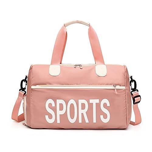 HNTKSM Borsa Sportiva, Borsoni da Palestra Formazione Sportiva per Borsa da Viaggio per Donna (Color : Pink)