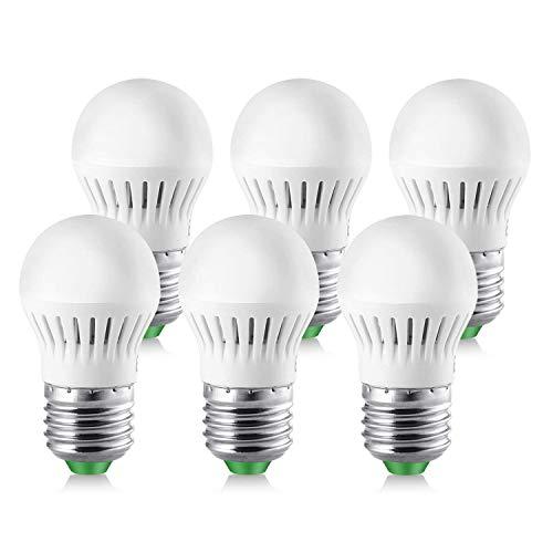 Elrigs E27 LED Lampe Mini Größe, 3W ersetzt 25W, Warmweiß(3000K), G40, 270lm, 6er Pack