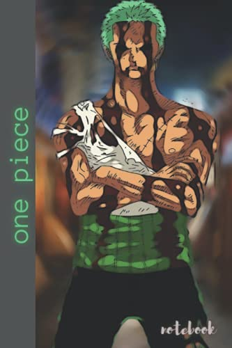 """one piece: zoro one piece Notebook, Composition Journal ,for Writing, College Ruled Size (6""""x 9"""")"""