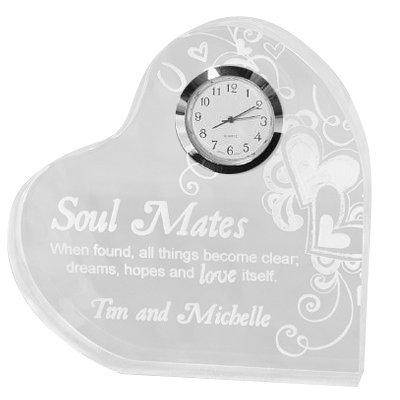 Soul Mates Heart Clock