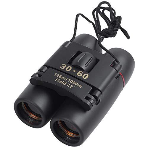 BKAUK 30 60 Zoom - Prismáticos compactos con telescopio para visión diurna y nocturna